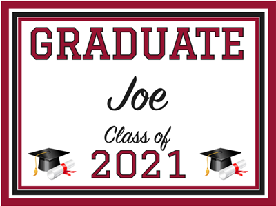 Grad Sign - Design 3 (18in x 24in)